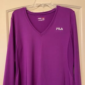 Purple workout shirt